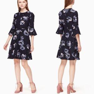 NWT Kate Spade Night Rose Crepe Dress
